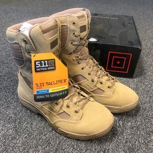 "New 5.11 Tactical Taclite 8"" Coyote Boot"